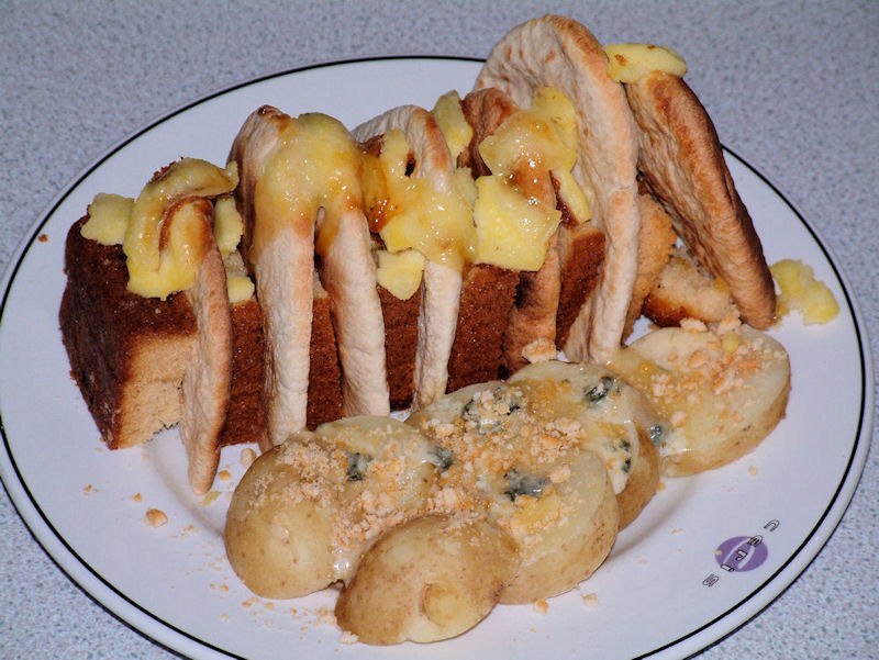 Blue Madeira Toast with Ilchester Gratin