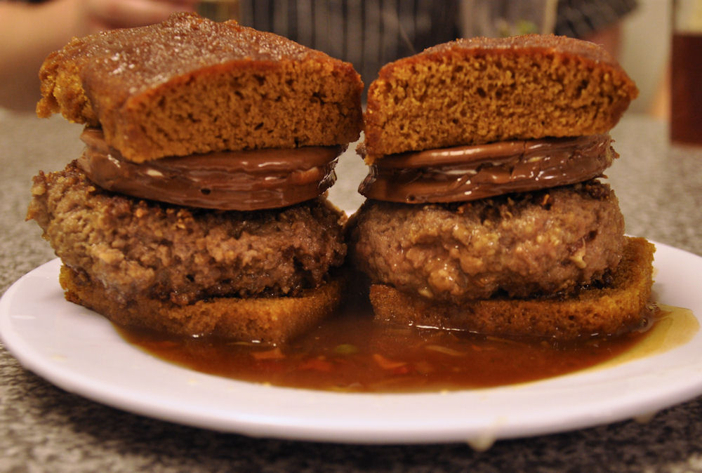 Chocolate Lemonburgers in Savoury Coffee Sauce