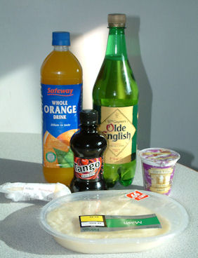 Ingredients used in Cheesy Potato Profiteroles in Cherry-Orange Coulis