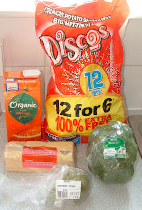 Ingredients used in Fruity Vegetable Battenburgers