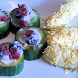 Fruit Sushi With Wasabi Cheese Croquettes