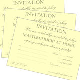 MasterChuck! Dinner Party Invitations