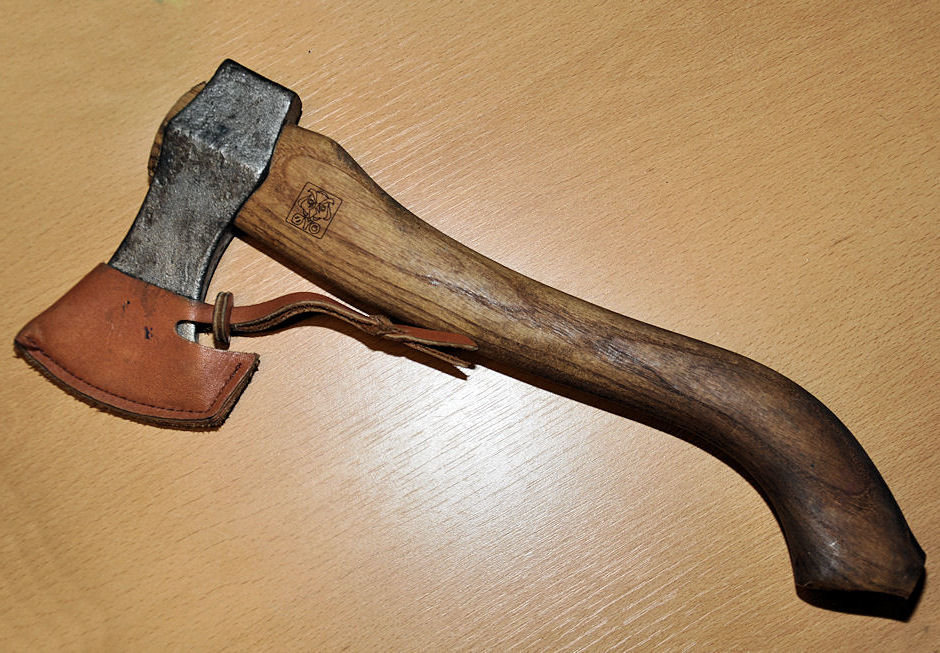 Use the Viking hand axe to chop things with. Obviously.